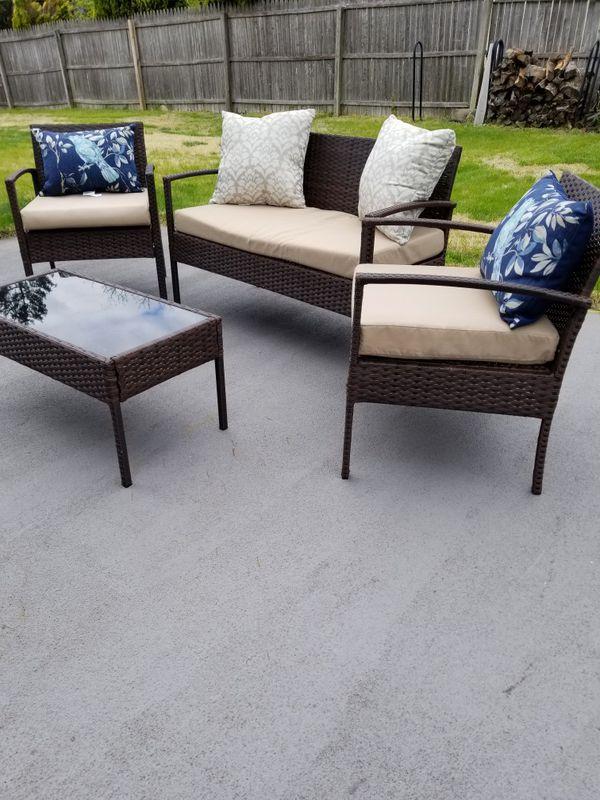 Patio furniture 4 pieces