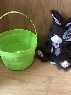 NEW Stuffed Bunny & Basket for Sale in Milwaukie,  OR