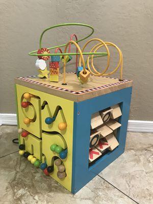 Battat Wooden Activity Cube for Sale in Peoria, AZ