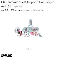 Lol surprise 2n1 camper for Sale in Fullerton, CA