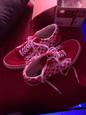 Red checkerboard vans for Sale in Portland, TX