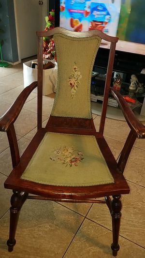 Antique needlepoint chair for Sale in San Diego, CA