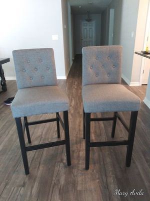 Two grey barstools for Sale in Wimauma, FL