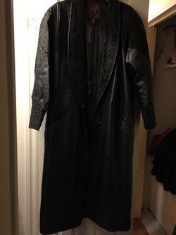 Full length leather coat for Sale in Buffalo Gap,  TX