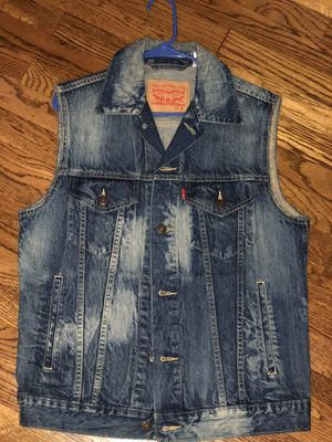 Levi Denim sleeveless vest for Sale in Maple Heights, OH