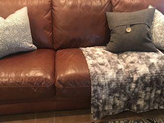 Natuzzi Top Grain Leather Sofa or Couch, damaged for Sale in Oceanside,  CA