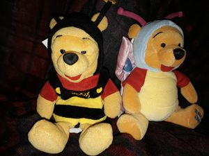 Disney beanie baby bean bag plush butterfly bumble bee pooh for Sale in Chino, CA