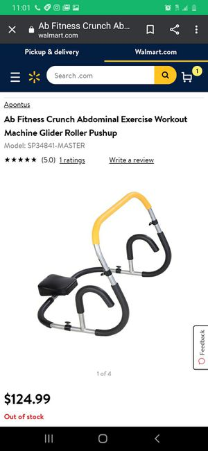 New Ab Fitness Crunch Abdominal Exercise Workout Machine for Sale in Buena Park, CA