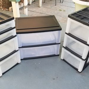 Plastic Storage Containers With Drawers for Sale in Houston, TX
