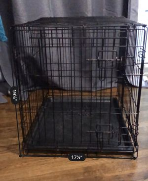 24 in folding dog crate w/bowls for Sale in Laurel, MD