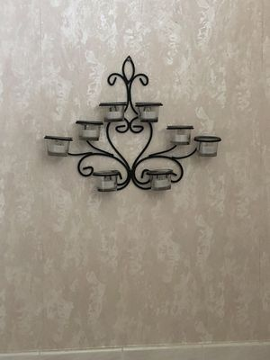 Black wrought iron candle holder for Sale in Spring Hill, FL