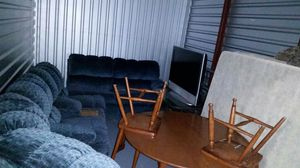 L section couch, tables, full size bed & tv for Sale in Lake Wales, FL