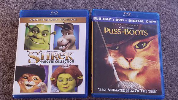 Shrek bluray collection
