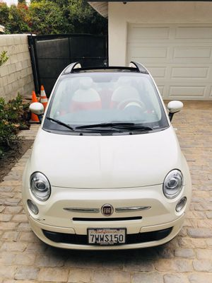 ( BEAUTIFUL CONVERTIBLE 2012 FIAT 500c // STICK SHIFT! 80k MILES! HURRY! for Sale in Pacoima, CA