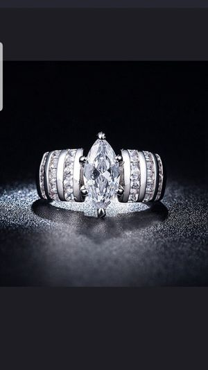 Sterling silver white sapphire ring available in sizes 7,8,9 for Sale in Dundalk, MD