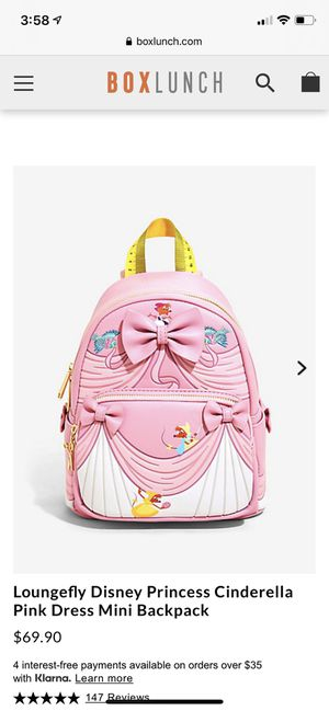 Loungefly Cinderella backpack for Sale in Lynwood, CA