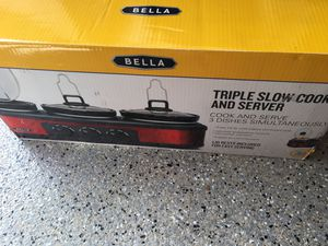 Bella Triple Slow Cooker. Never used. for Sale in Orange, CA