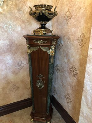 Stunning hand carved wood, Italian marble, and brass columns. for Sale in El Cajon, CA