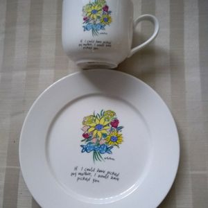If I Could Have Picked My Mother Plate And Coffee Cup for Sale in Allen Park, MI
