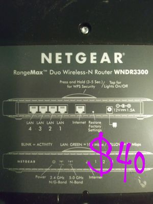 Netgear max range signal booster router for Sale in Tacoma, WA