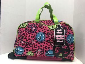 "Rolling Duffle Bag, Suitcase, Carry-on, 18"" Cheetah/Animal Print for Sale in Daly City, CA"