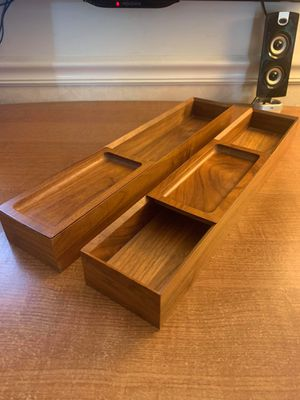 Walnut Serving Trays with sliding door for Sale in Germantown, MD