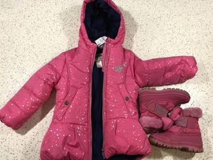 New Kids winter jacket with snow boot (only today sale) for Sale in Medford, MA