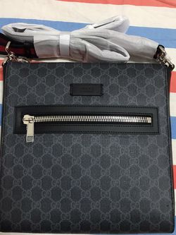 Gucci Web Strap Front Zip Messenger Bag GG Coated Canvas Large for Sale in Queens,  NY