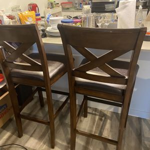 2- Used Black Bar Stools - $60 for Sale in Seattle, WA