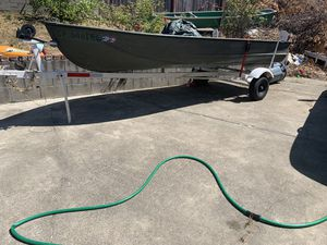 Aluminum boat and trailer for Sale in Vallejo, CA