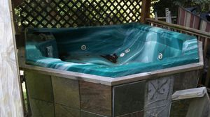 6 person hot tub. Needs cleaning and new water lines and u will need to build a case.Worked fine a year ago. $150 u pick up. (contact info hidden) for Sale in Mableton, GA