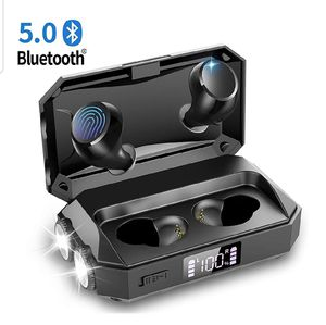 Sealed Box - Wireless Earbuds with Flashlight, Touch Control Bluetooth 5.0 Headphones for Sale in Irvine, CA