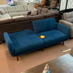Online Price ‼️🎉🎊 Blue Line Sofa to Sleeper (Futon/Sofa Bed) • Delivery • Assembly • FREE 🔥 Financing ‼️Same as cash for Sale in Henderson,  NV