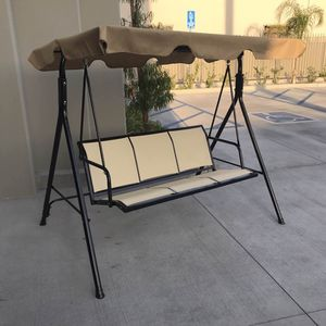 New in box $90 each 528 lbs capacity porch swing bench chair with canopy sun shade sun blocker for Sale in Vernon, CA