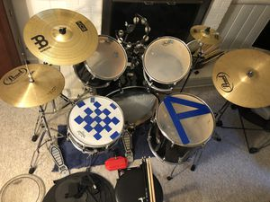 Drum set for sale, everything you need, 5 piece, cymbals, stands, hardware, extra drums for Sale in Falls Church, VA