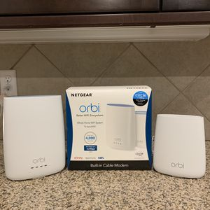 Orbi Whole Home Wifi System (Modem+Router Combo) for Sale in Las Vegas, NV