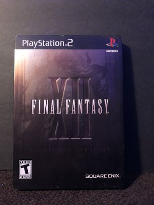 Final Fantasy XII: Collector's Edition Steelbook PS2 for Sale in Tucson, AZ