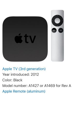 Apple tv 3rd for Sale in Medford, MA