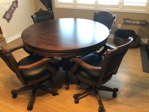 Game Table, Chairs, Accessory Board for Sale in Phoenix, AZ