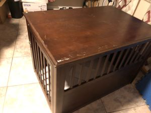 Wooden table dog cage with dog bed for large dogs for Sale in Cape Coral, FL