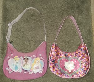 Girls Disney princess and Hello Kitty purse for Sale in Spring Hill, FL