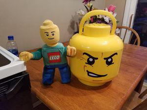LEGO Storage Head and Plush for Sale in Saint Paul, MN