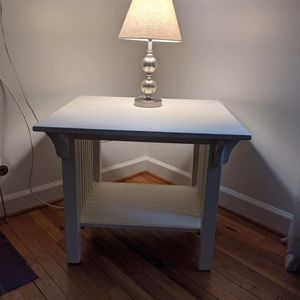 Side Table (White) for Sale in Falls Church, VA