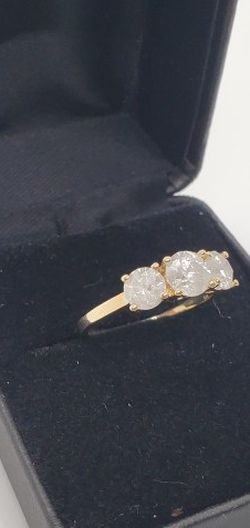 wedding rings 3 piece Gold 14 k for Sale in Hollywood,  FL