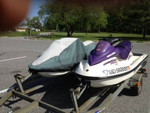 2 (Twin) 2003 Sea-Doo GTI Jet Skis with Load Rite Trailer SeaDoo jet ski for Sale in Alexandria, VA