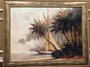 """Nice and big art Frame 56"""" x 45"""" fits above fire place for Sale in Arlington, TX"""