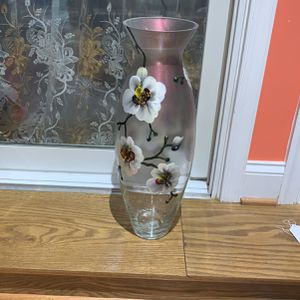 "New In Box Modern Design Glass Vase, Orchid, 20"" tall for Sale in Baltimore, MD"