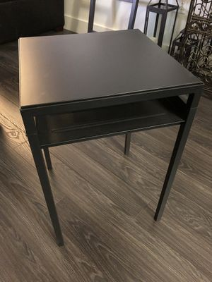 Reversible end table (black/white top) for Sale in Boston, MA
