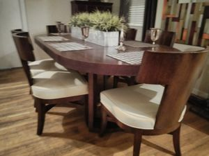 Dining table with 6 chairs dark brown color for Sale in Modesto, CA