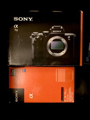 Sony A7ii digital camera DSLR + 24-70 lens + flashpoint flash + sigma mc-11 for Sale in Seattle, WA